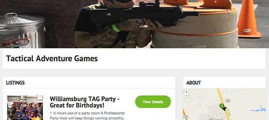 Get booked on the Laser Tag directory