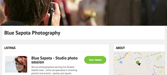 Get booked on the Photography directory